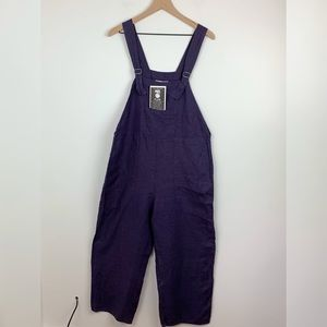 NWT | Flax | 100% Linen purple overalls Small